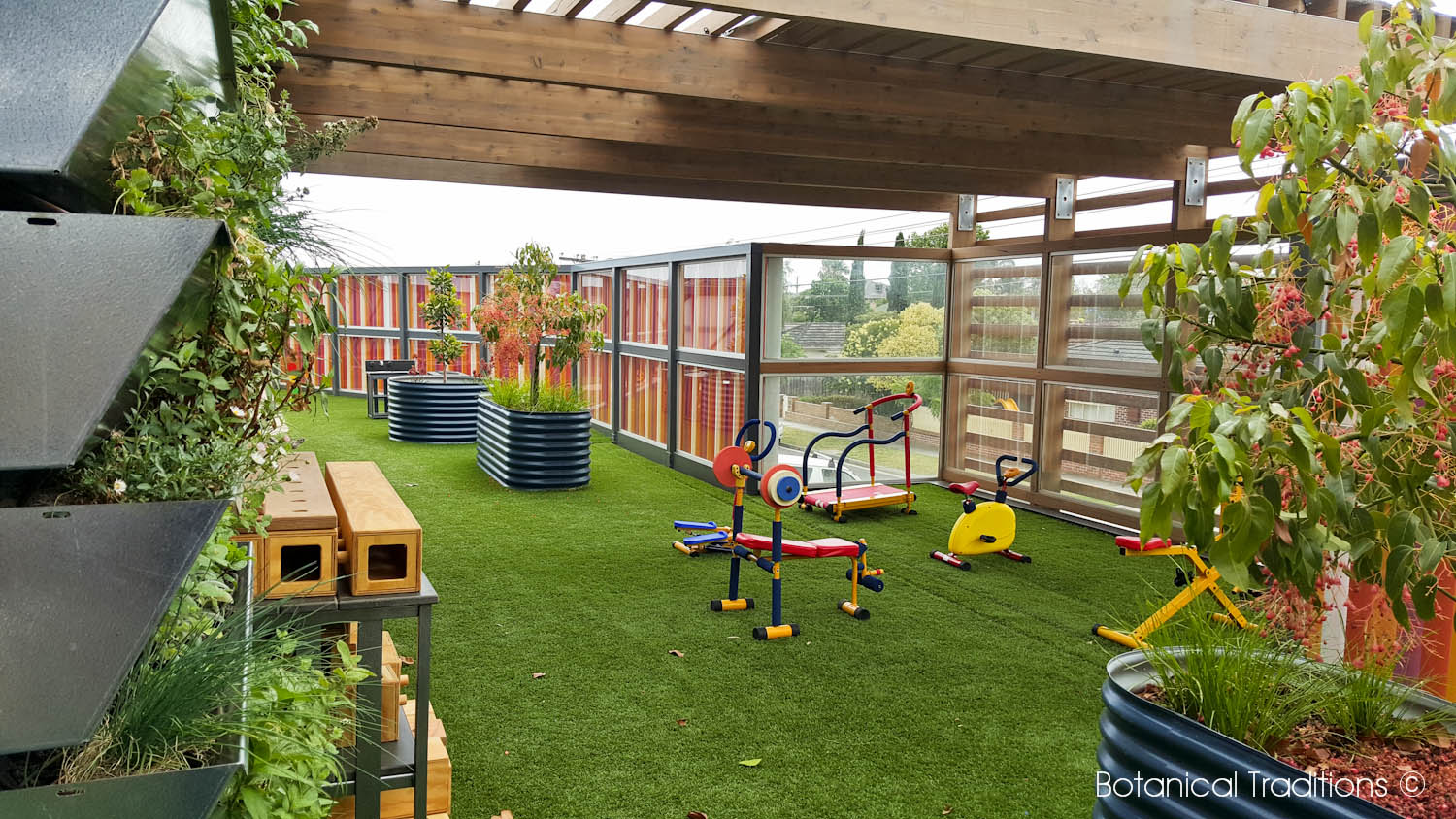 Botanical traditions playspace design kindergarten for School garden designs