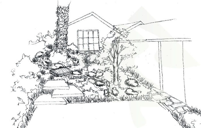 93 simple landscape design sketch professionals know for Garden design sketches